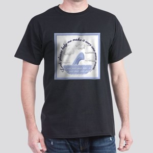 Wave Prayer (Drawing) Black T-Shirt