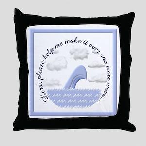 Wave Prayer (Drawing) Throw Pillow