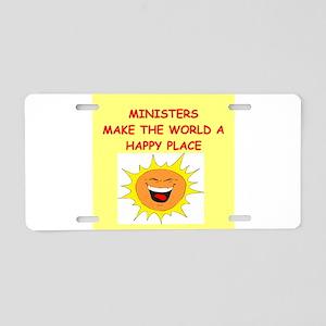 minister Aluminum License Plate