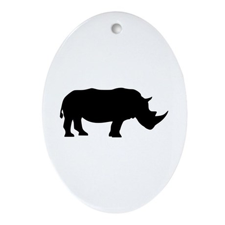 Rhino Ornament (Oval)