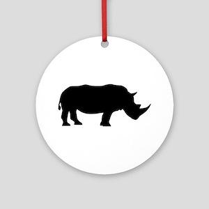 Rhino Ornament (Round)