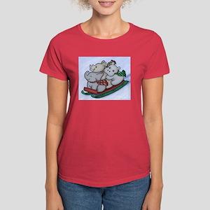 Sledding Women's Red T-Shirt