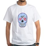 Christmas Skull White T-Shirt