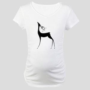 Elegant Reindeer Games Maternity T-Shirt