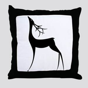 Elegant Reindeer Games Throw Pillow