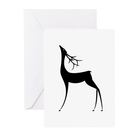 Elegant Reindeer Games Greeting Cards (Pk of 20)