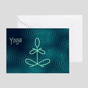 Winter Yoga Greeting Card