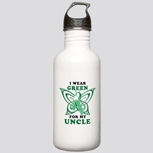 I Wear Green for my Uncle Stainless Water Bottle 1