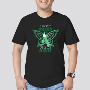 I Wear Green for my Son Men's Fitted T-Shirt (dark