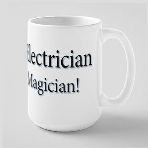 I'm an Electrician not a Magi Large Mug