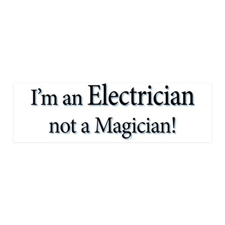 I'm an Electrician not a Magi 42x14 Wall Peel
