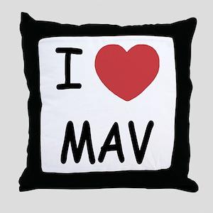 I heart mav Throw Pillow