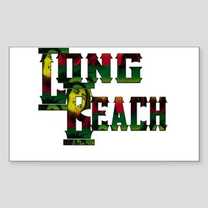 Long Beach Rasta Sticker (Rectangle)