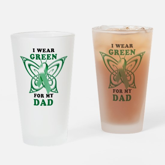 I Wear Green for my Dad Drinking Glass