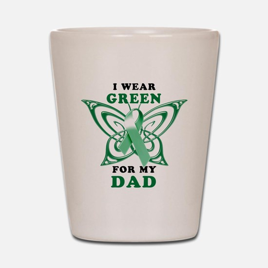I Wear Green for my Dad Shot Glass