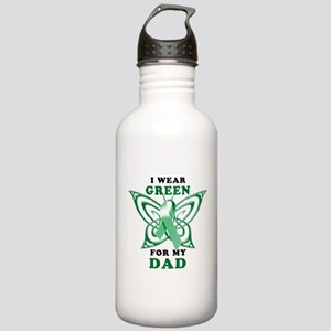 I Wear Green for my Dad Stainless Water Bottle 1.0
