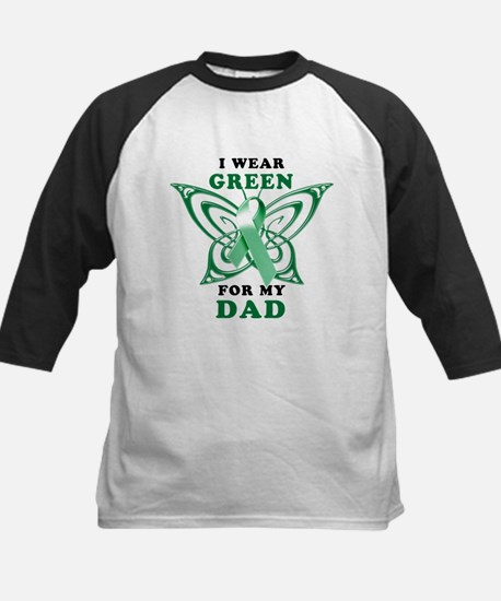 I Wear Green for my Dad Kids Baseball Jersey