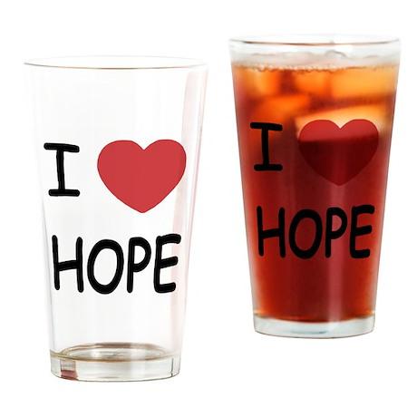I heart hope Drinking Glass