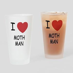 I heart mothman Drinking Glass