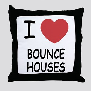 I heart bounce houses Throw Pillow