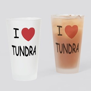 I heart tundra Drinking Glass