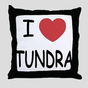 I heart tundra Throw Pillow