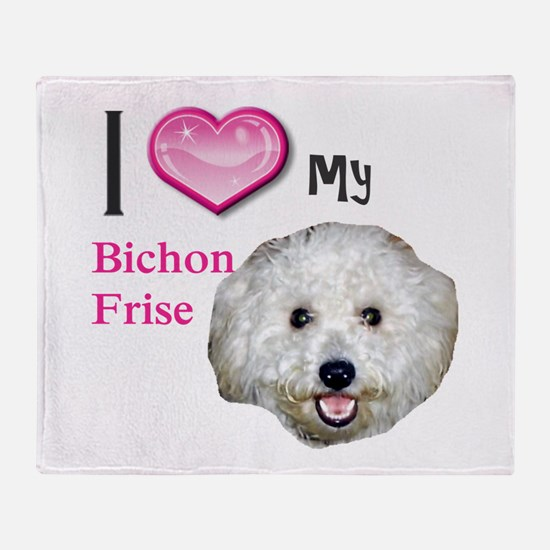 Funny Bichon frise Throw Blanket