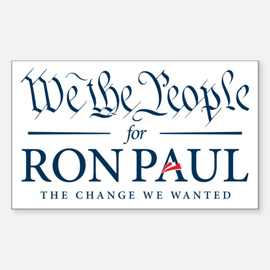 People for Ron Paul Sticker (Rectangle)