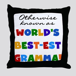 Otherwise Known Best Gramma Throw Pillow