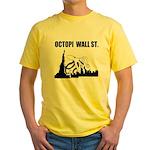 Octopi Wall Street Yellow T-Shirt
