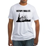 Octopi Wall Street Fitted T-Shirt