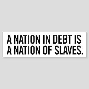 Nation of Debt Sticker (Bumper)