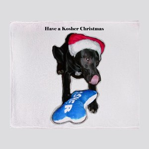 Kosher Christmas Throw Blanket