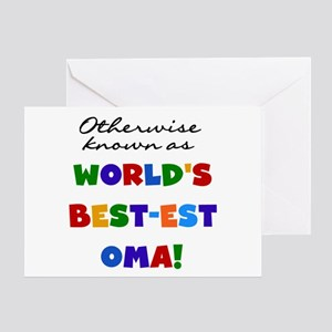 Otherwise Known Best Oma Greeting Card