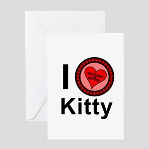 I Love Kitty Brothers & Sisters Greeting Card