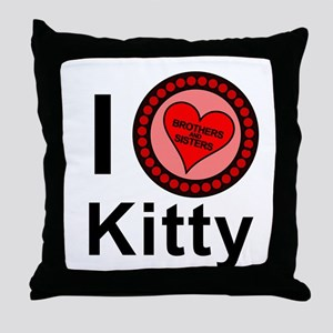 I Love Kitty Brothers & Sisters Throw Pillow