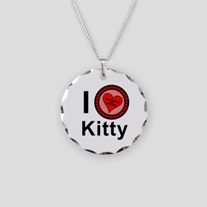 I Love Kitty Brothers & Sisters Necklace Circle Ch