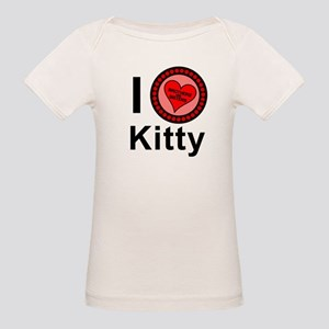 I Love Kitty Brothers & Sisters Organic Baby T-Shi