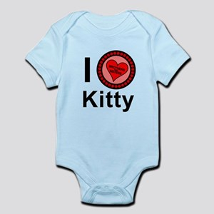 I Love Kitty Brothers & Sisters Infant Bodysuit