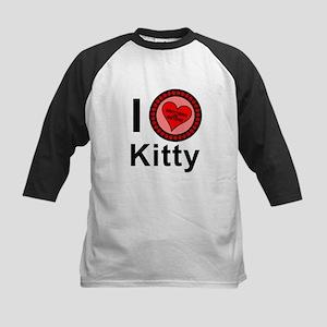 I Love Kitty Brothers & Sisters Kids Baseball Jers