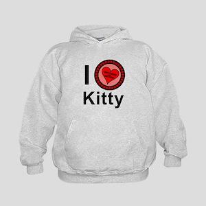 I Love Kitty Brothers & Sisters Kids Hoodie
