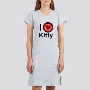 I Love Kitty Brothers & Sisters Women's Nightshirt