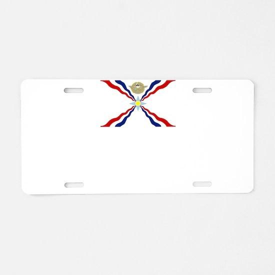 Cool International flags Aluminum License Plate