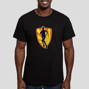 Marathon runner jogger Men's Fitted T-Shirt (dark)