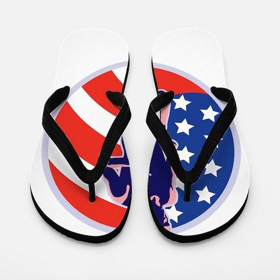 American Marathon runner Flip Flops