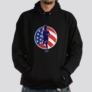 American Marathon runner Hoodie (dark)