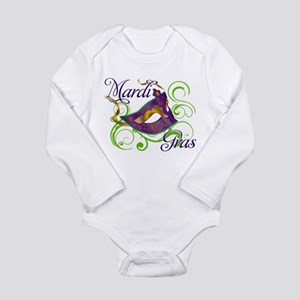 Mardi Gras Design 5 Long Sleeve Infant Bodysuit