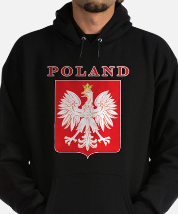 Poland Eagle Red Shield Hoodie (dark)