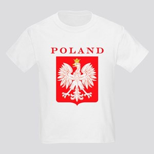 Poland Eagle Red Shield Kids Light T-Shirt