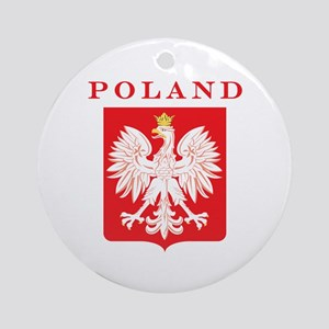 Poland Eagle Red Shield Ornament (Round)